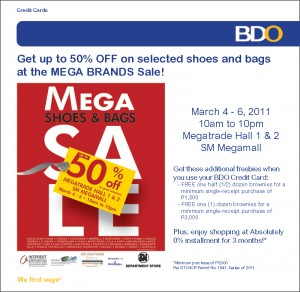 sm mega bags and shoes sale event bdo promo
