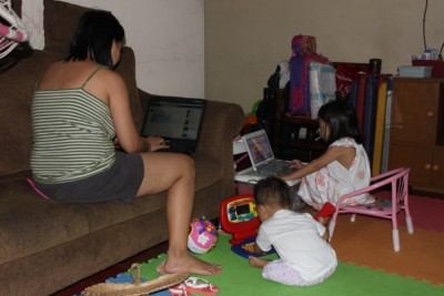 computer and kids