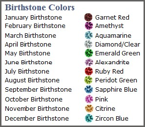 birthstone colors stud earrings